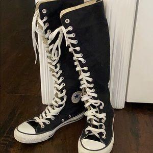 Knee High Converse Black